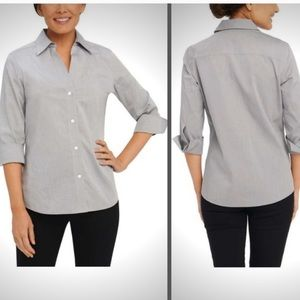 NWT Foxcroft Non-Iron Essential Paige Shirt Medium